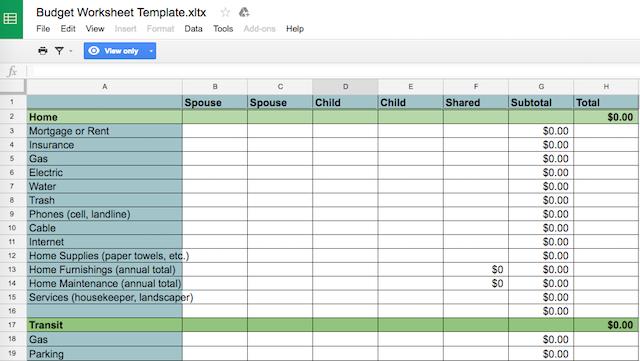 Excel spreadsheet for budget tiatremusrat