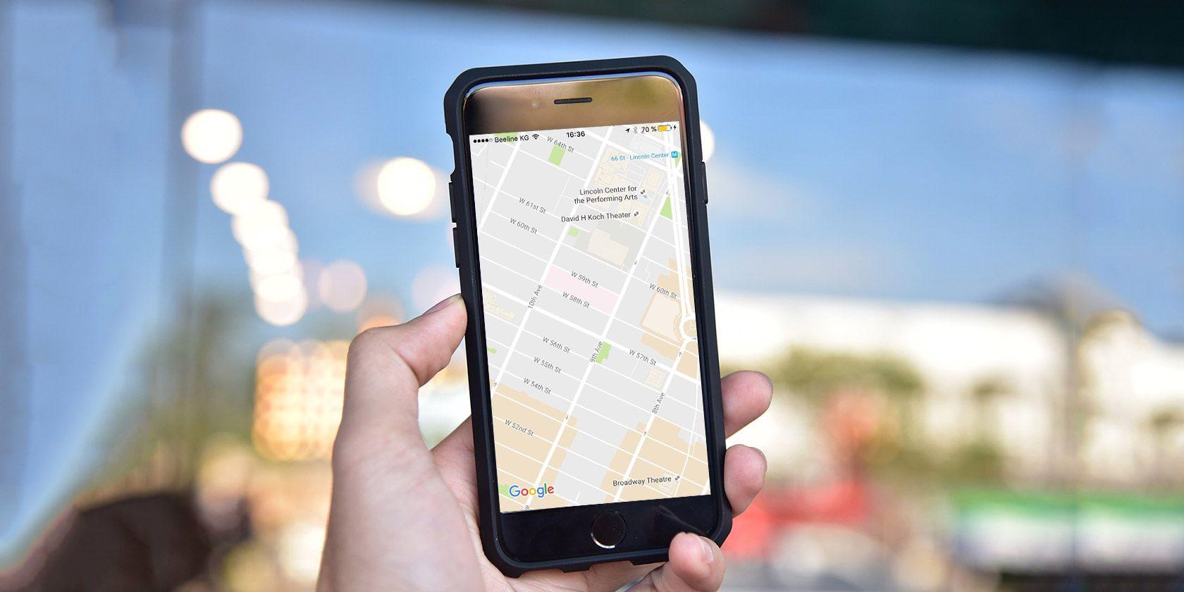 google-karte-iPhone