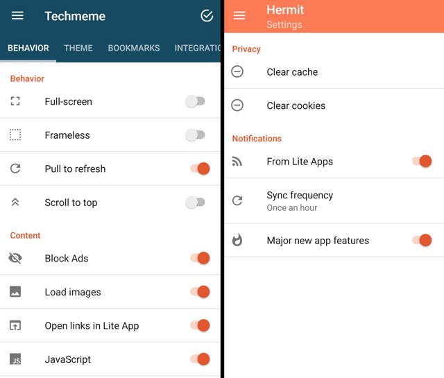 hermit-android-lite-apps-settings