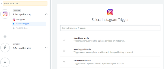 Instagram Download Likes Choose Trigger Step 1