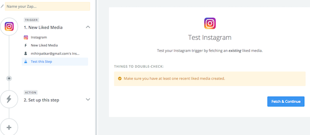Instagram Download Likes Choose Trigger Step 3
