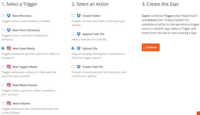 Instagram Download Likes Zapier Three Steps Big