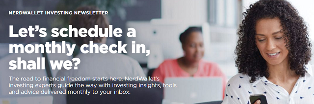 NerdWallet Newsletter Signup Screenshot