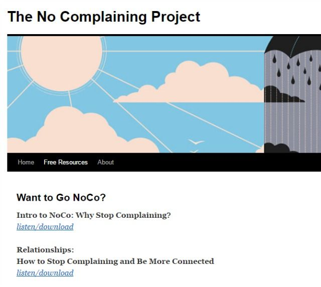 no complaining project