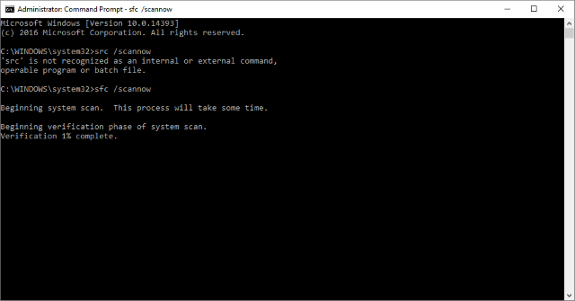 System File Checker Tool on Windows Command Prompt