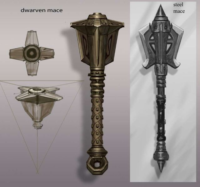 Skyrim Weapon Concept Art