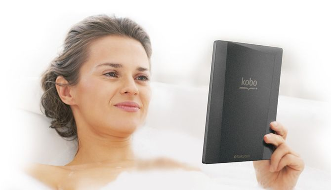 Woman Reading Kobo Reader