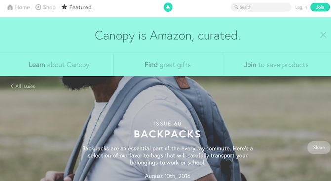 Amazon Sites and Tools -- Canopy