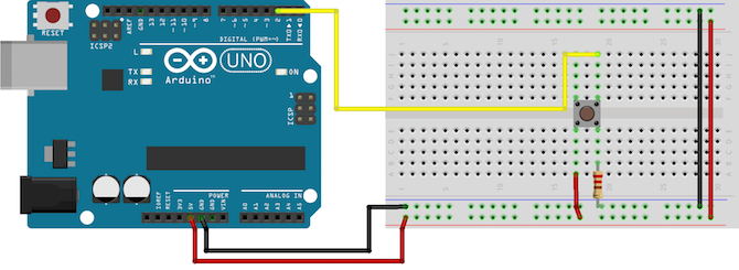 Arduino Piezo Button Circuit