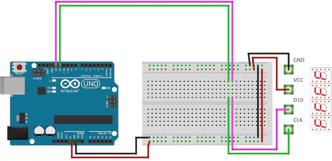Arduino Seven Segment Circuit