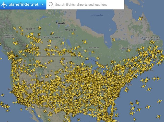 Google Maps Flight Tracker
