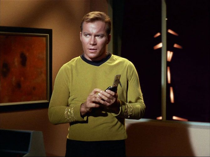 Captain James T Kirk With His Communicator
