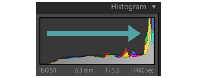 Overexposed Histogram