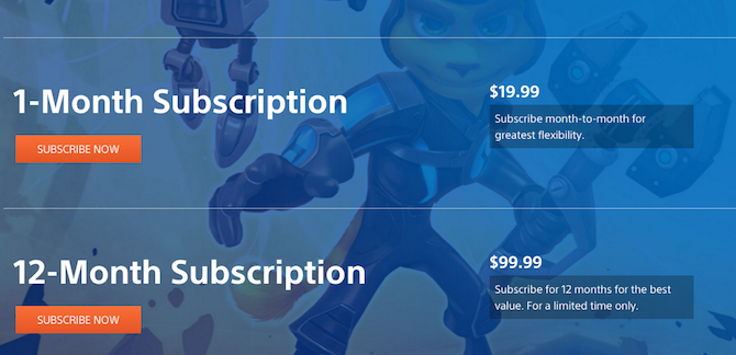 PlayStation Now Subscription Prices