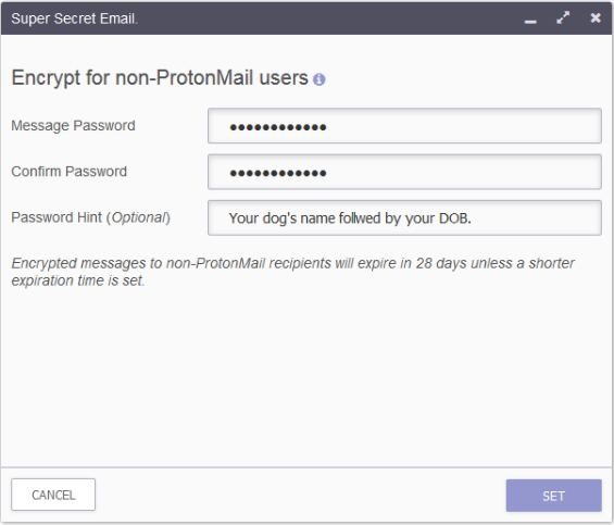 ProtonMail Compose Email Encryption Process
