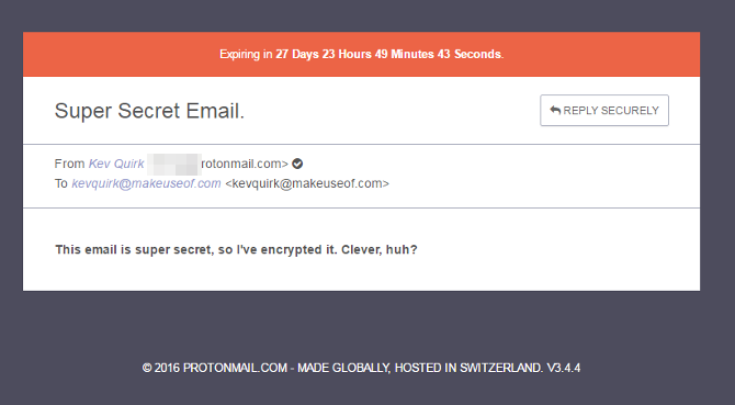 ProtonMail View Encrypted Message