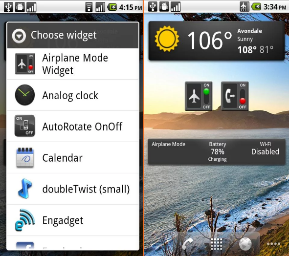 Auto Airplane Mode Widget Android