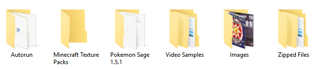 Before Folder Icons Changed in Windows 10