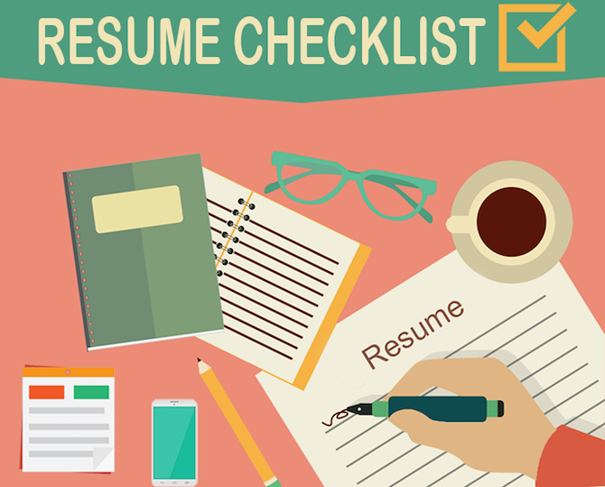 Best Internet Resume Advice Checklist