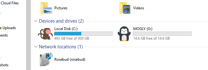 Changed Drive Icons in Windows 10