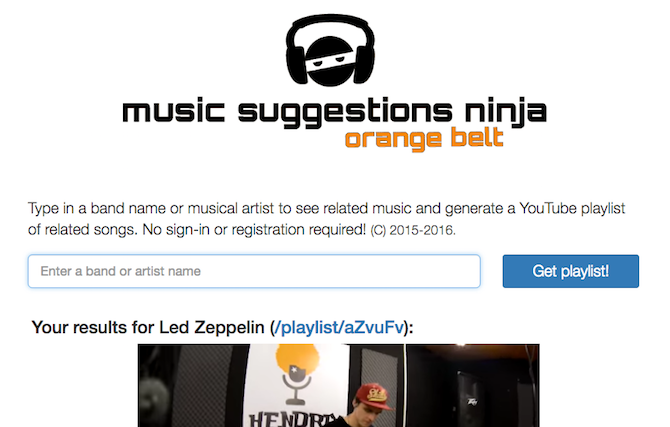 Discover New Music -- Music Suggestions Ninja