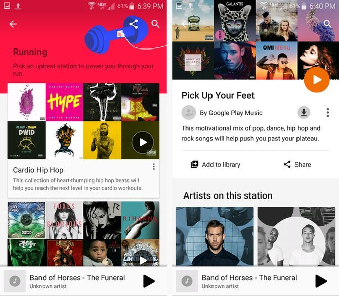 Google Play Music on Android