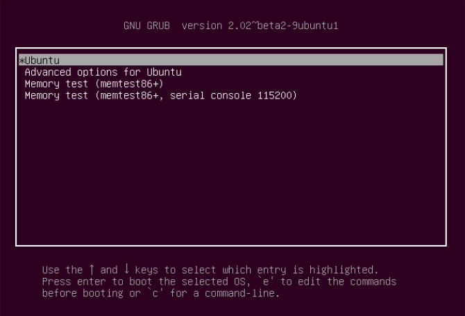 GRUB Bootloader for Linux Ubuntu