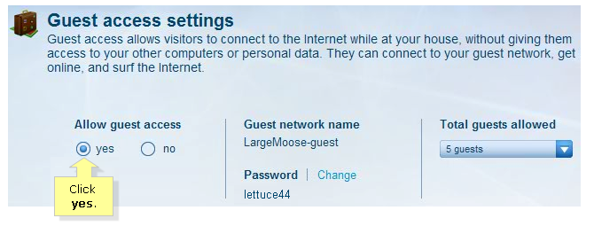 Wireless Router Guest Access Settings