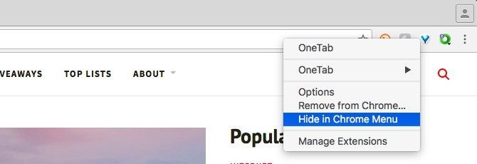 Chrome Hide Menu Button