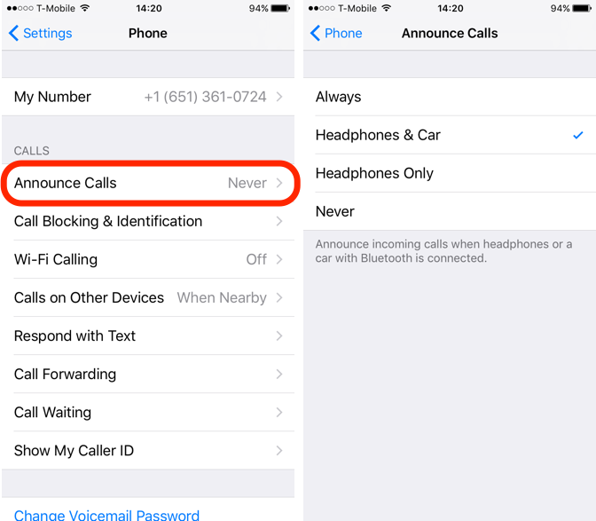 iOS 10 Feature Announce Calls