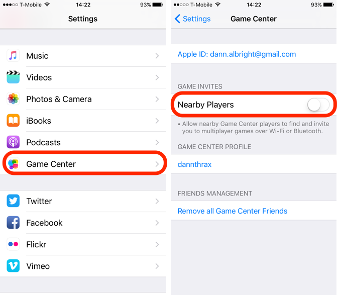 iOS 10 Feature Game Center Nearby