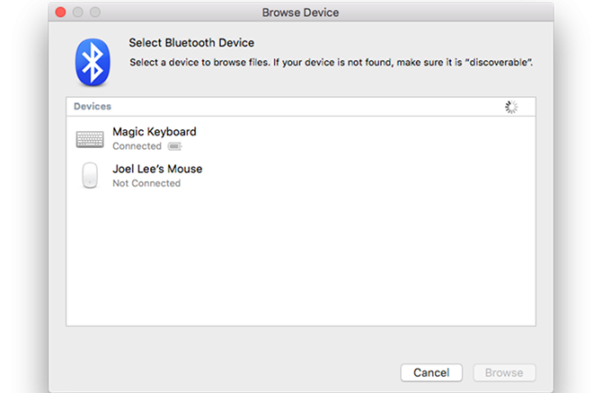 Mac standard app Bluetooth
