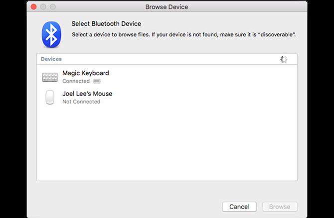 Mac по умолчанию приложение Bluetooth