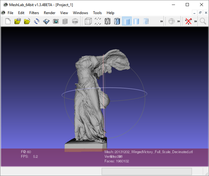 3D Meshlab Tool in Action