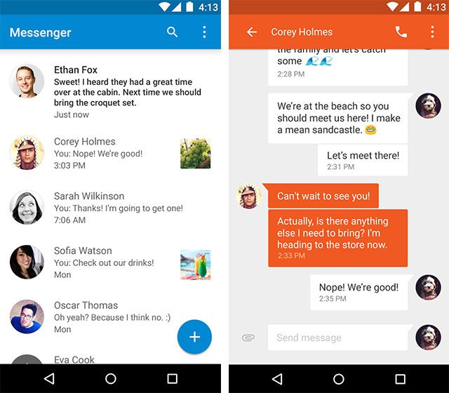 The Best Android Apps messenger