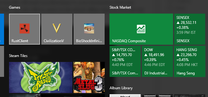 Windows 10 Stock Ticker Pin to Start Menu