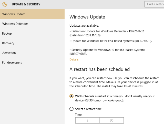 Ransomware Windows 10 Update Schedule