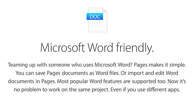 DOC and DOCX in Pages