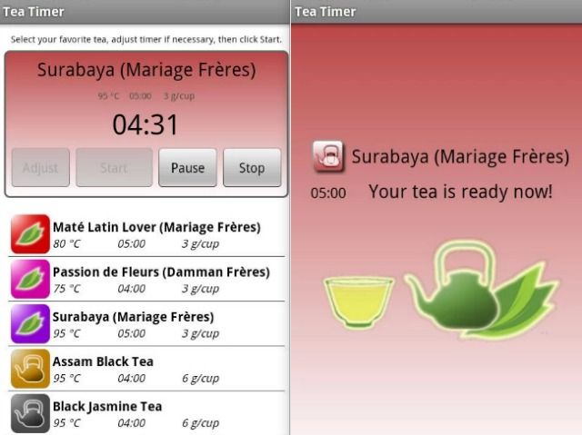 Perfect Cup of Tea Mobile App