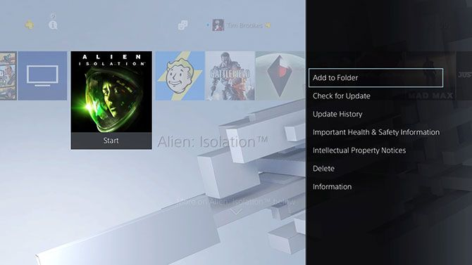 PlayStation 4 Create Folder Feature