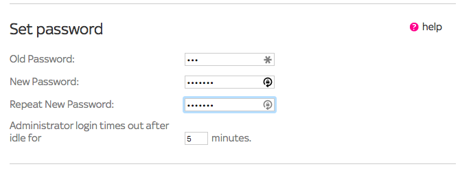 Router Settings Change Password
