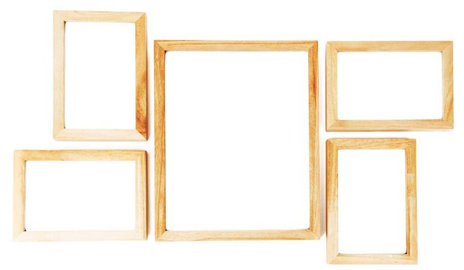 A Collection of Wooden Frames