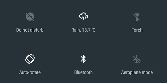 Android Nougat Weather Quick Settings Tile App