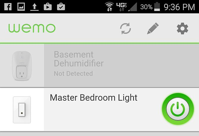 Belkin WeMo App Screenshot