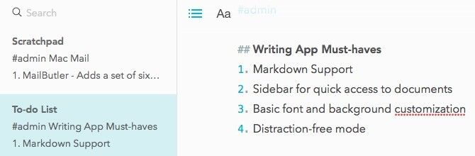 Markdown Writing App Must Haves