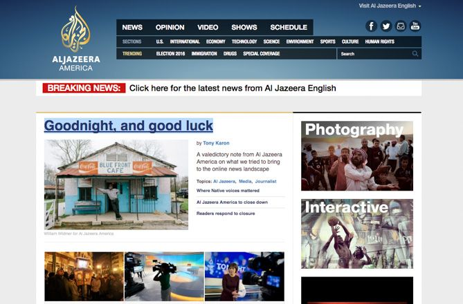 The best websites on the internet excellent reporting around the world and can often give an interesting international perspective on local news unfortunately al jazeera america is fandeluxe Images