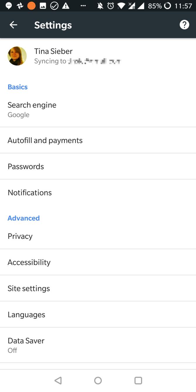 delete android data google account