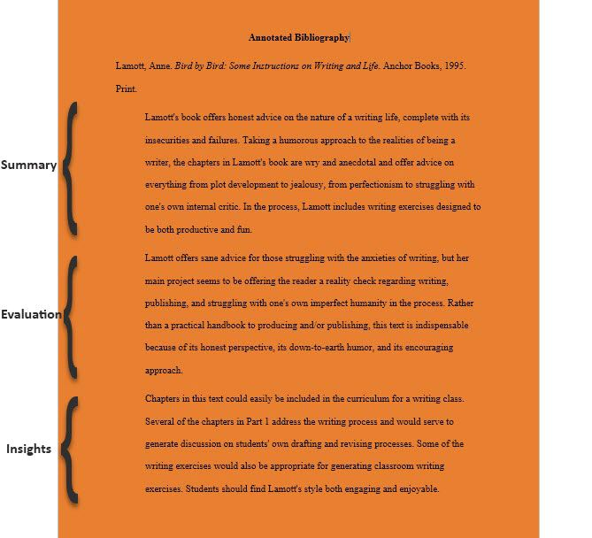 annotated bibliography evaluation example