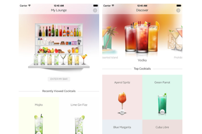 iOS Apps Cocktail Flow