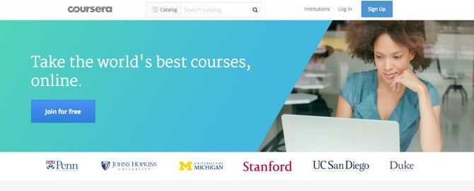 Coursera lets you take free online classes from more than eighty  universities and educational organizations, all in one place.